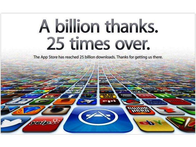 Apple App Store hits 25 billion downloads