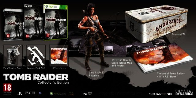 tomb raider extras, endurance, collectors edition