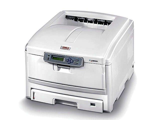 Oki c8600 led printer home page.