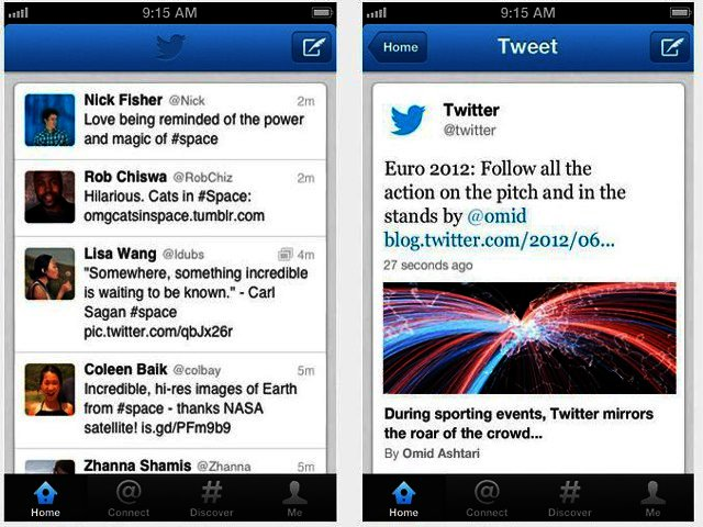 Twitter mobile app for iPhone and Android updated