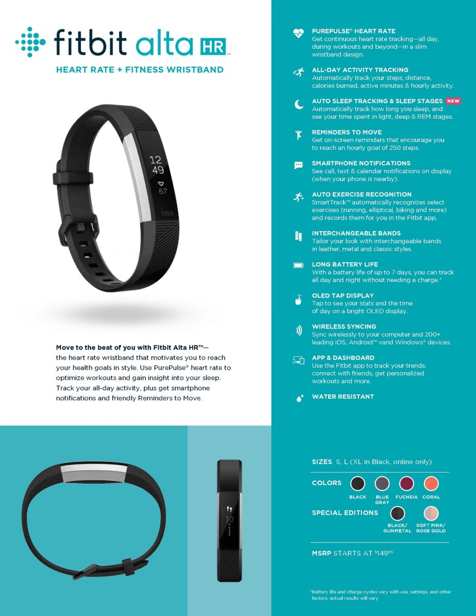 News: Fitbit brings heart rate monitoring to Alta HR
